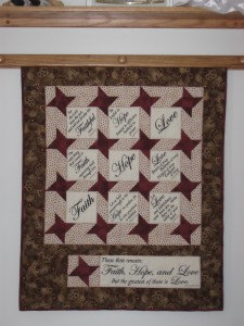 Love is Wallhanging - close view